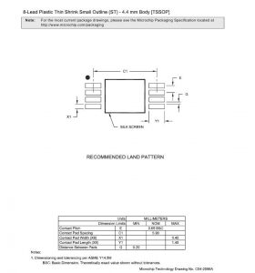 Land Pattern 280x300 - Щуп TSSOP-8_035 с автономной подсветкой.