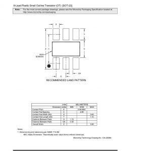 SOT 23 Land Pattern 289x300 - Щуп для SOT23-6