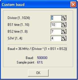 baudrate - 2-х канальный CAN анализатор