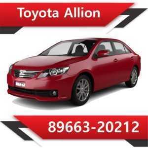 89663 20212 300x300 - Toyota Allion 89663-20212 E2 SAP EVAP