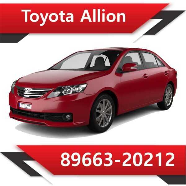 89663 20212 600x600 - Toyota Allion 89663-20212 E2
