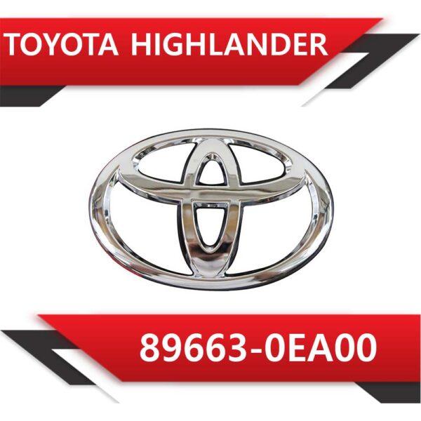 Toyota 1 600x600 - Toyota Highlander 89663-0EA00 STOCK
