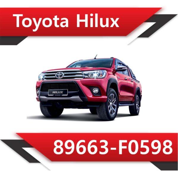 F0598 600x600 - Toyota Hilux 2.8  89663-F0598 TUN STAGE1 EGR DPF off