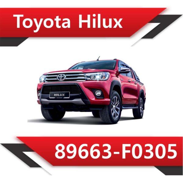f0305 600x600 - Toyota Hilux 89663-F0305 Tun Stage1