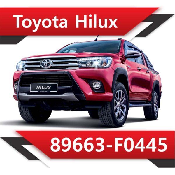 89663 F0445 600x600 - Toyota Hilux 2.4 89663-F0445 TUN STAGE2 EGR DPF OFF