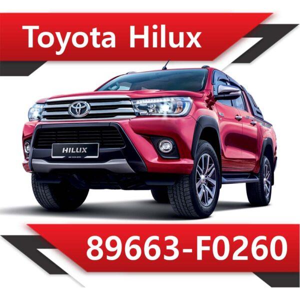 89663 F0260 600x600 - Toyota Hilux 89663-F0260 Stock