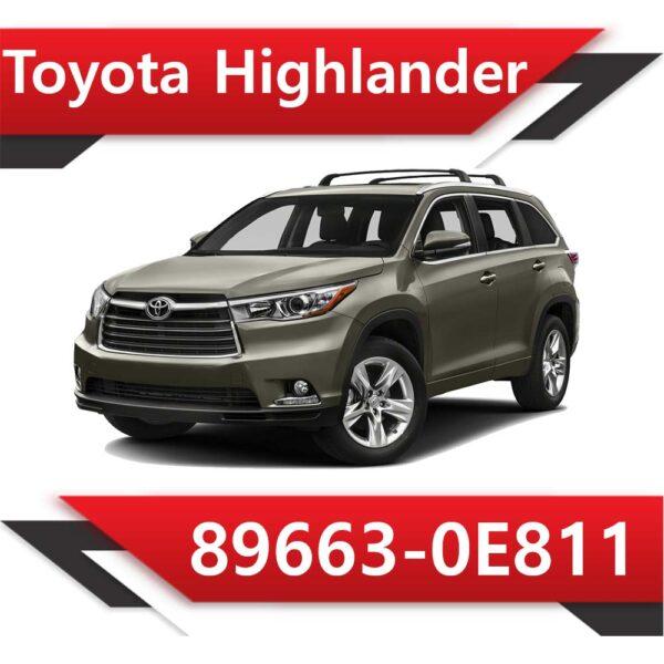 89663 0E811 600x600 - Toyota Highlander 89663-0E811 Tun Stage1 E2