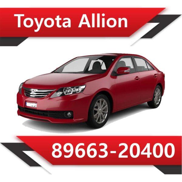 89663 20400 600x600 - Toyota Allion 89663-20400 Tun Stage1 E2