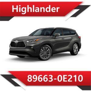 89663 0E210 300x300 - Toyota Highlander 89663-0E210 Tun Stage1