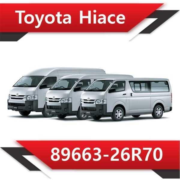 89663 26R70 600x600 - Toyota Hiace 89663-26R70 EGR DPF off