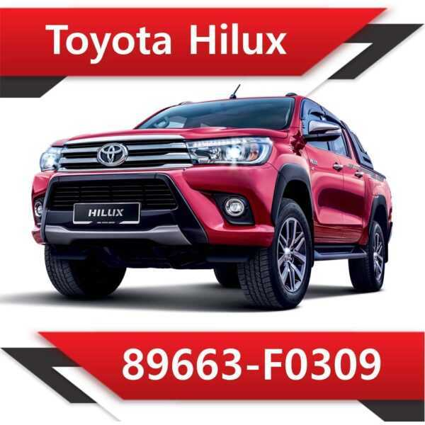 89663 F0309 600x600 - Toyota Hilux 2.4 TD 89663-F0309 EGR DPF off