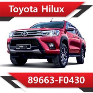 89663 F0430 300x300 - Toyota Hilux 2.4 89663-F0431 EGR DPF OFF