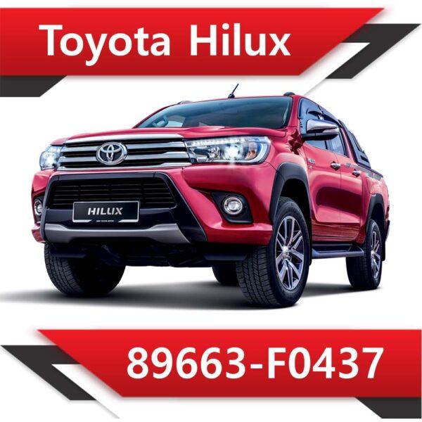 89663 F0437 600x600 - Toyota Hilux 2.4 89663-F0437 EGR DPF off