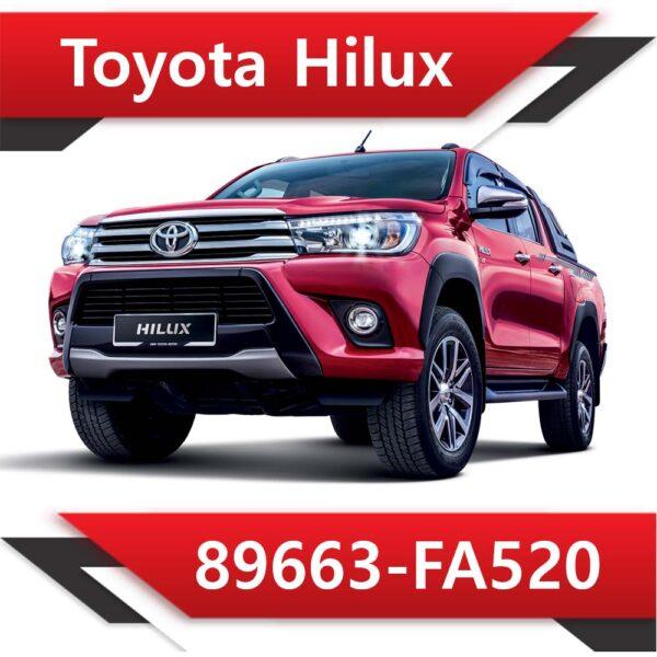 89663 FA520 600x600 - Toyota Hilux 89663-FA520 EGR DPF off