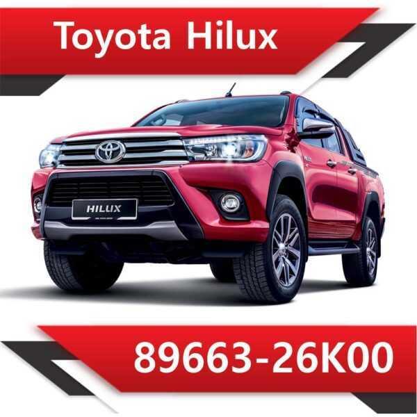 89663 26K00 600x600 - Toyota Hilux TD 89663-26K00 Tun Stage1 EGR DPF off Vmax