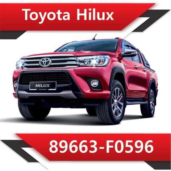 89663 F0596 600x600 - Toyota Hilux 89663-F0596 EGR DPF off