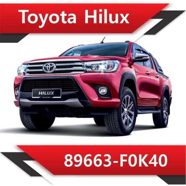 89663 F0K40 600x600 - Toyota Hilux 89663-F0K40 Tun Stage1