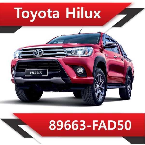 89663 FAD50 600x600 - Toyota Hilux 89663-FAD50 Tun Stage1