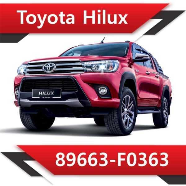 89663 F0363 600x600 - Toyota Hilux 89663-F0363 Tun Stage1 EGR DPF AdBlue off Vmax
