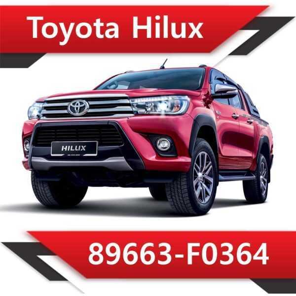 89663 F0364 600x600 - Toyota Hilux 89663-F0364 EGR DPF off