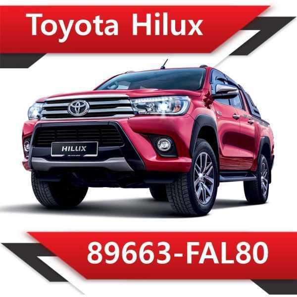 89663 FAL80 600x600 - Toyota Hilux 89663-FAL80 Tun Stage1 EGR DPF off Vmax